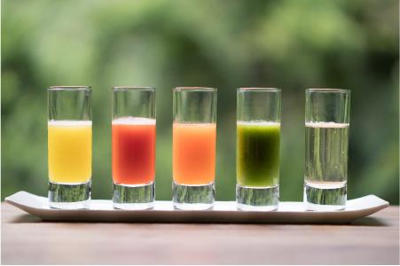 5種類のジュース